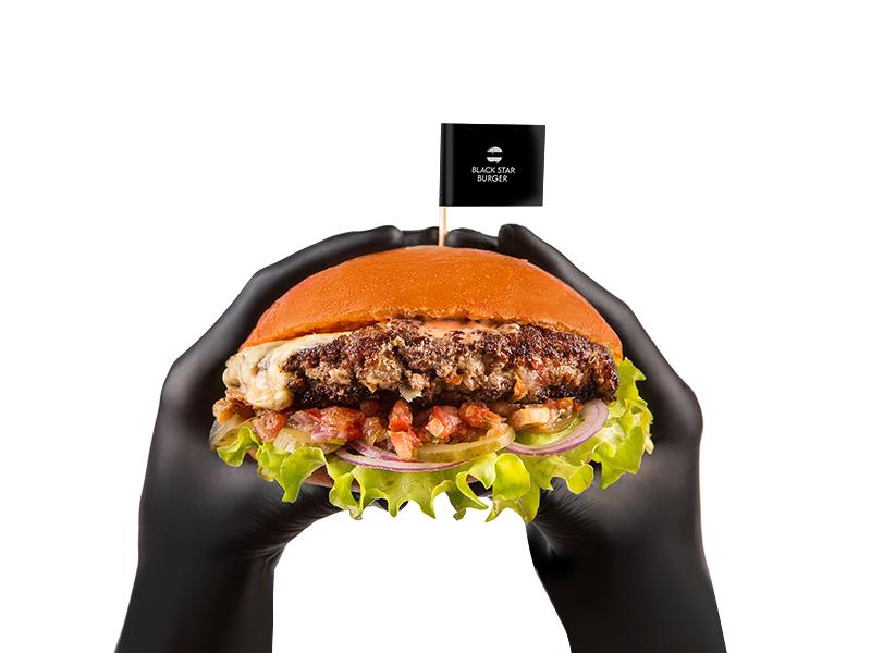 Бургер Сальса двойной с говядиной