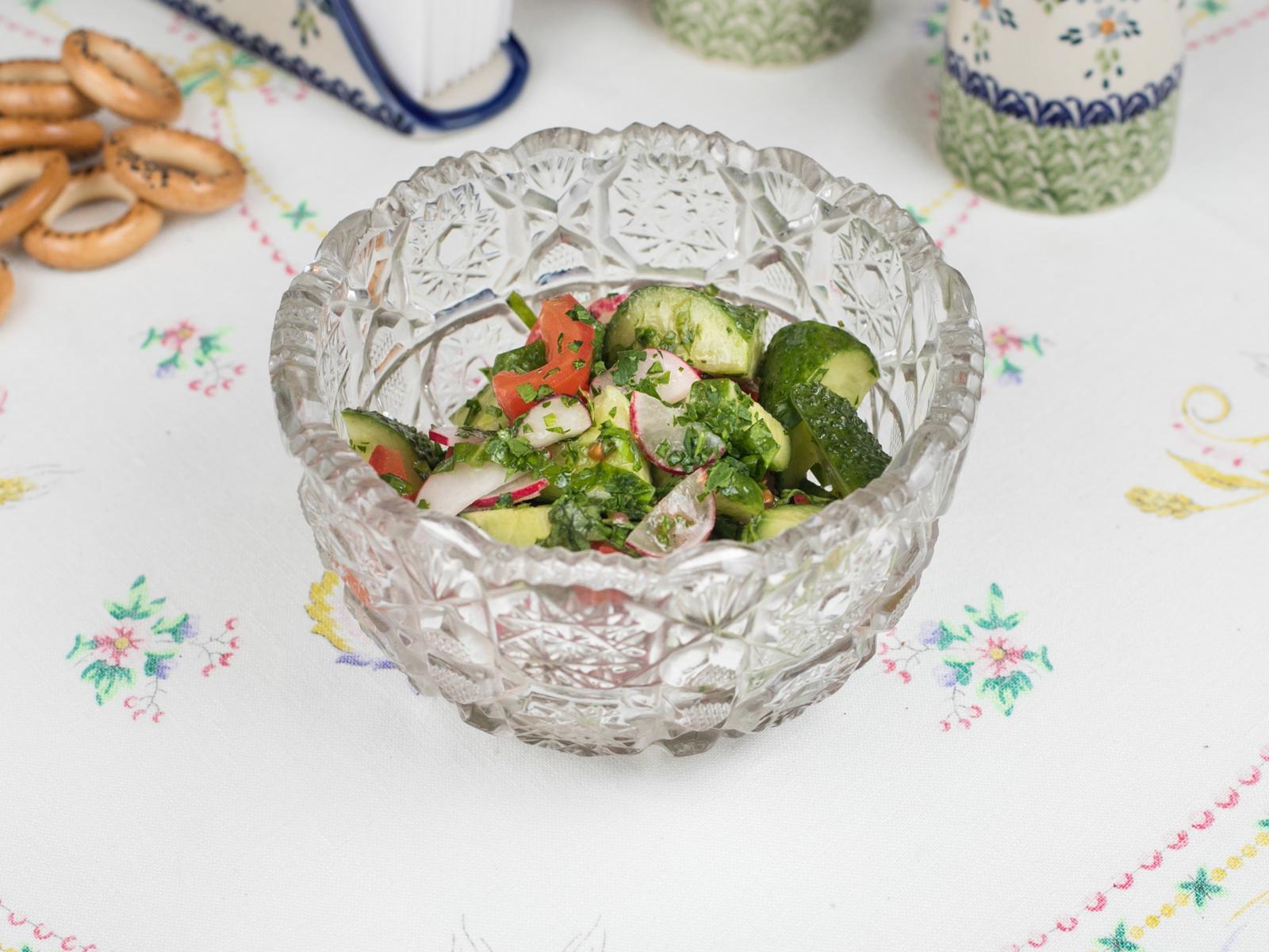 Овощной салат с деревенским маслом
