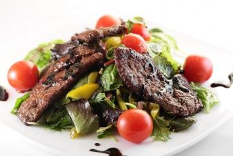Тёплый салат Сикварули