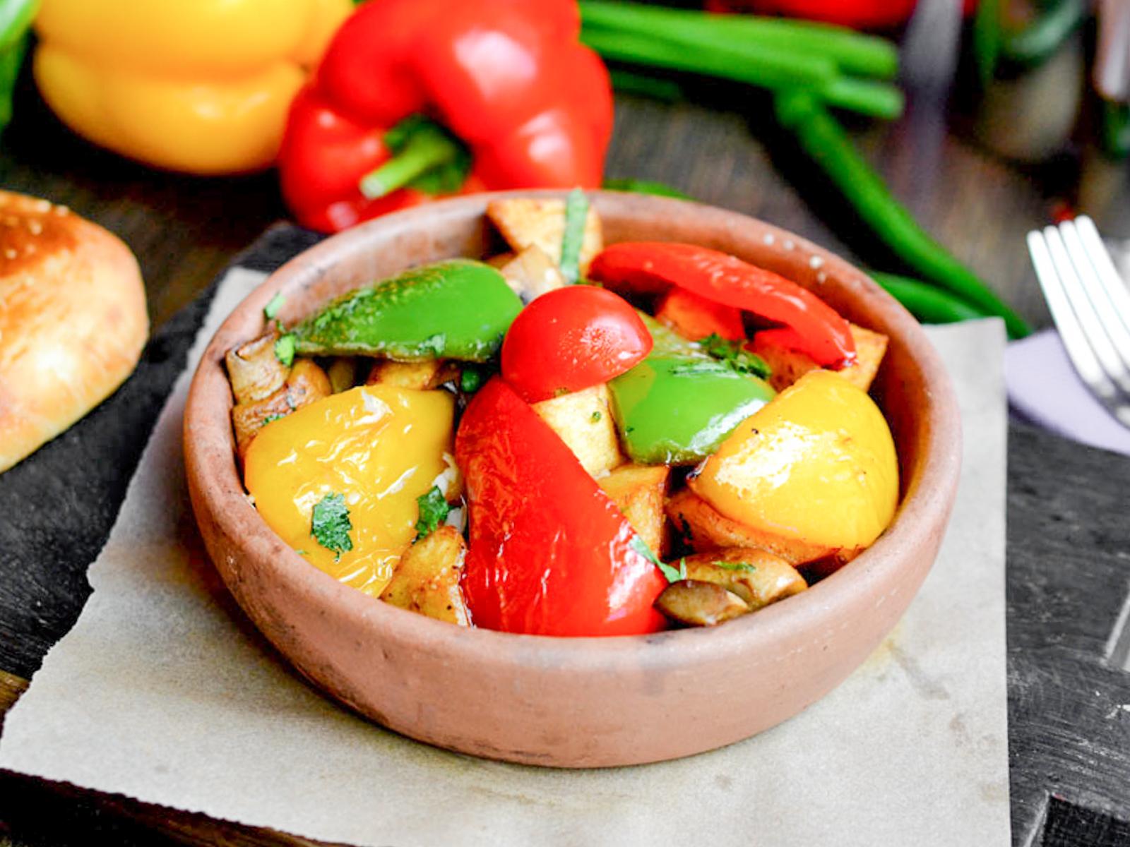 Оджахури с овощами