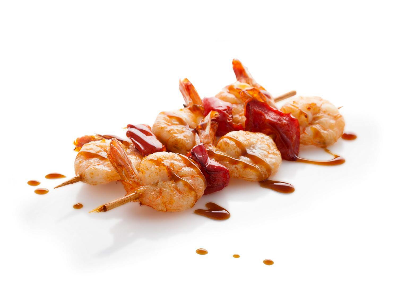 Шашлычок с креветками