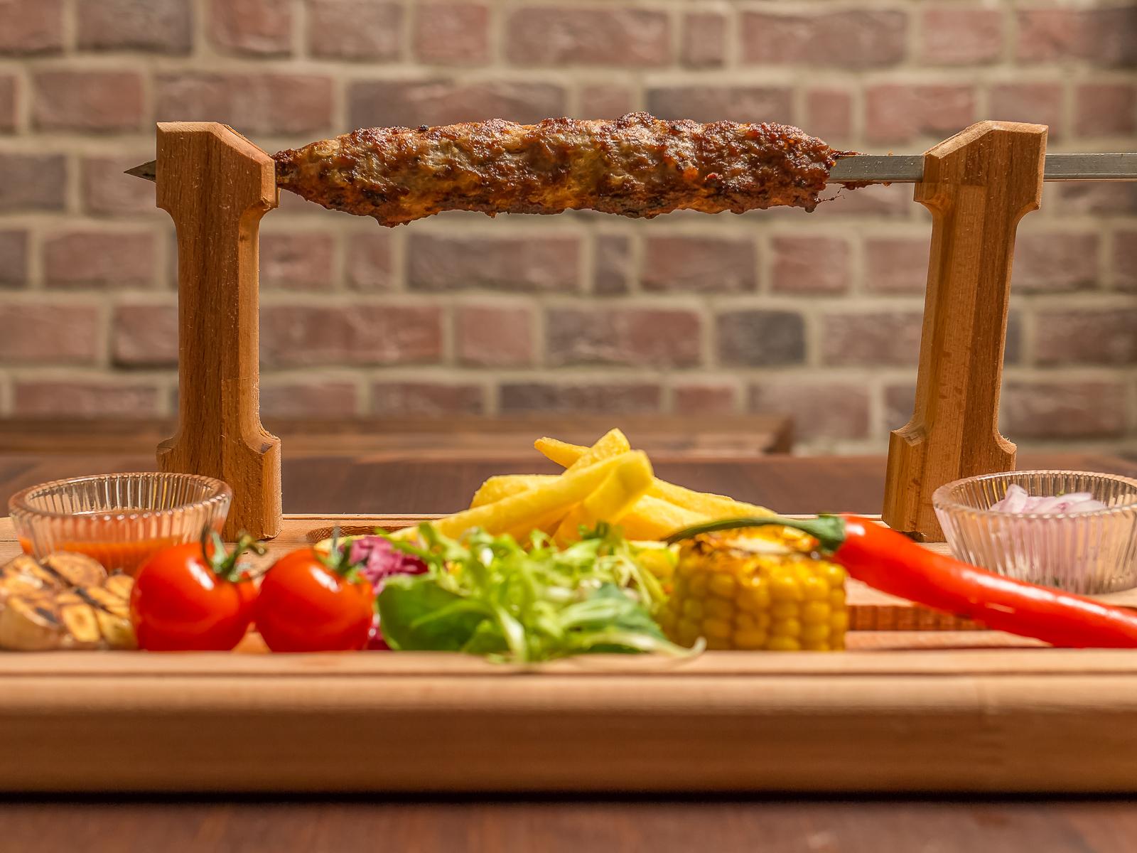 Кебаб куриный с овощами