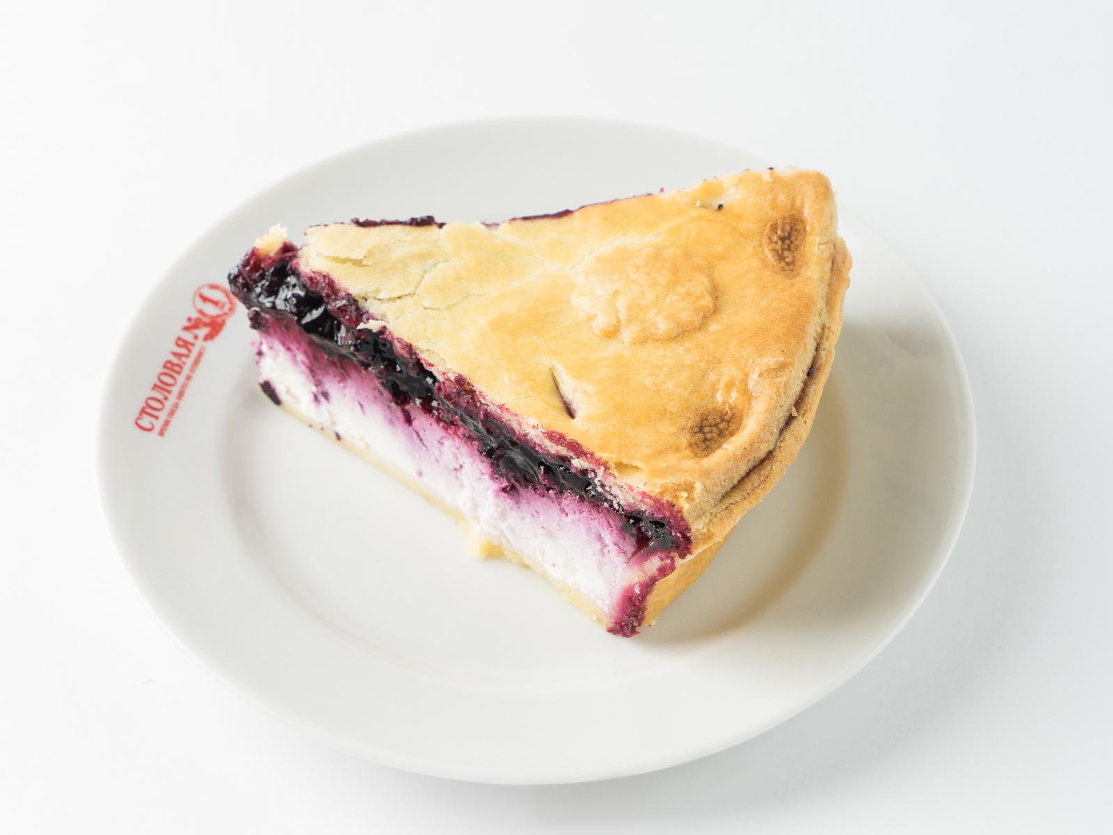 Пирог черничный с творогом