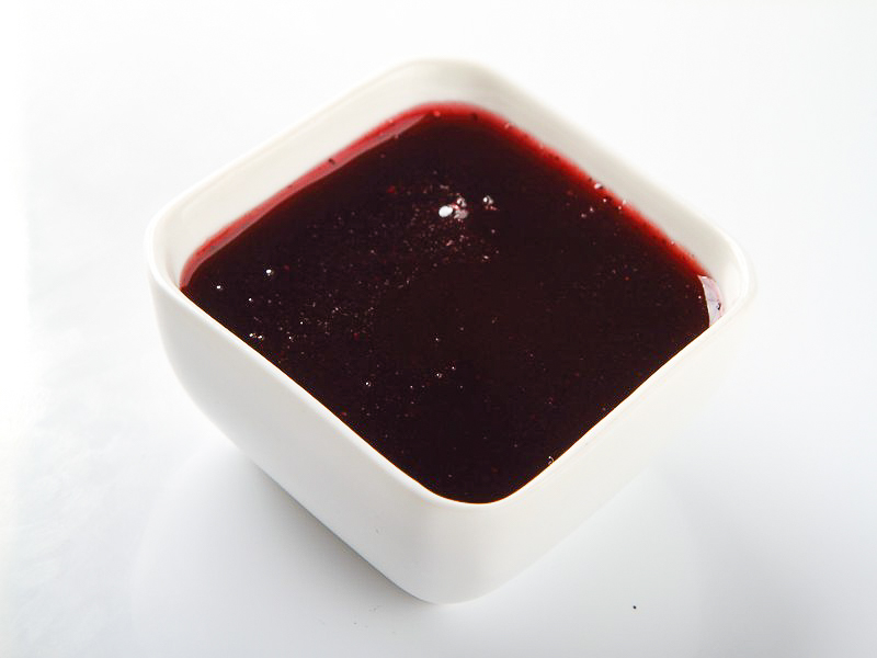Черника, протертая с сахаром