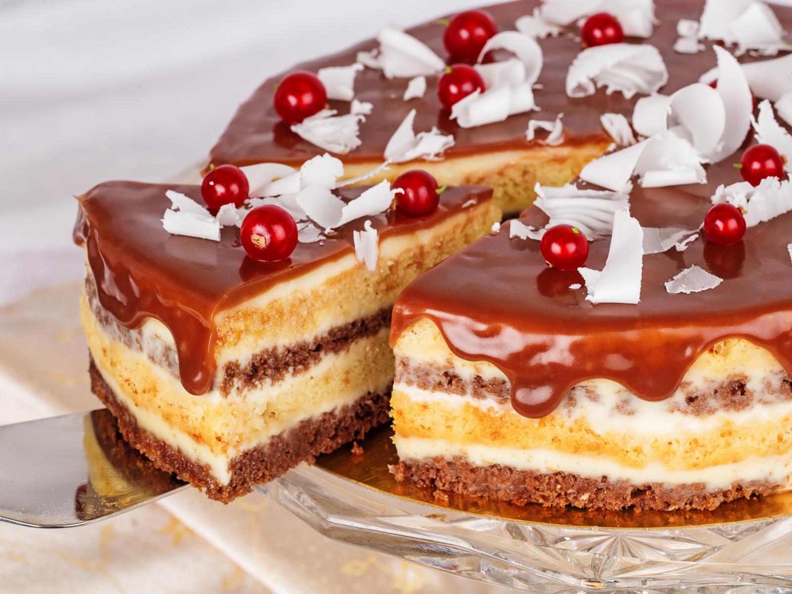 Торт Сметанник с шоколадом