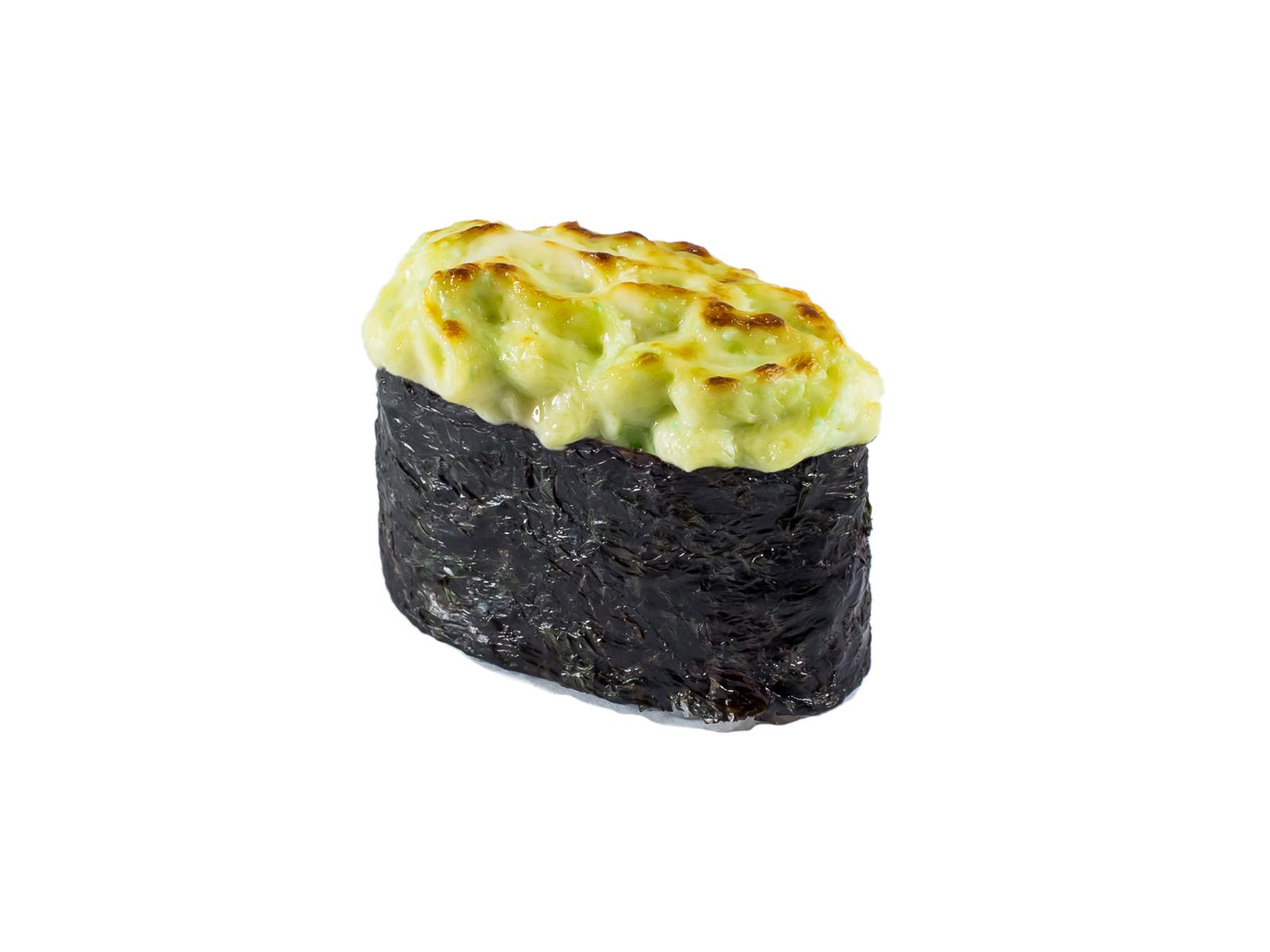Суши Запеченный лосось под соусом грин