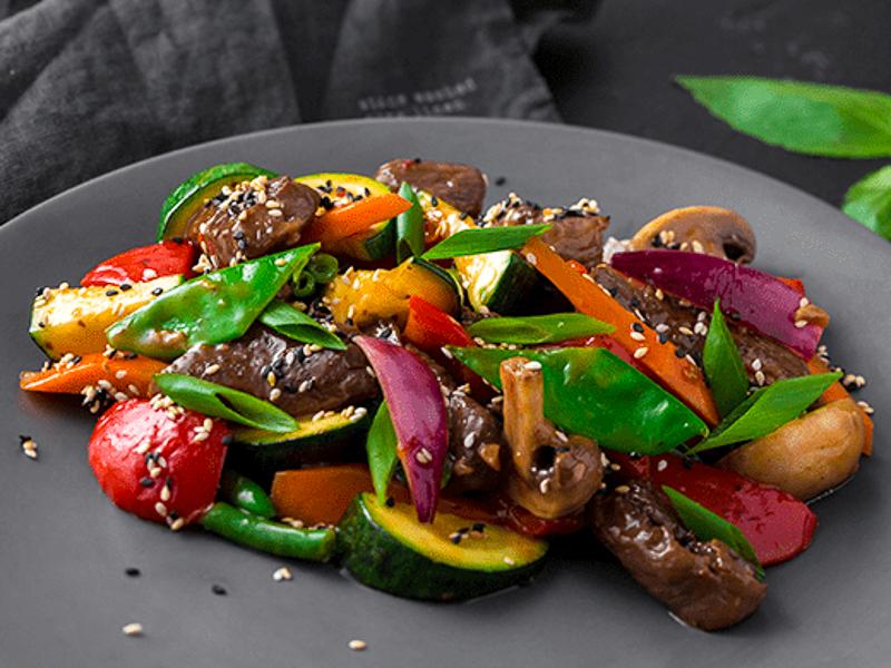 Вок Говядина с овощами свит чили