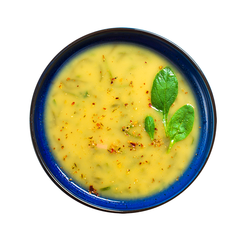 Суп-пюре из чана-дала со шпинатом
