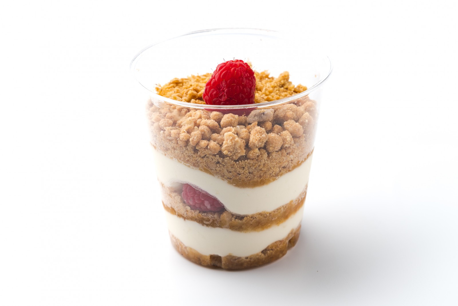 Десерт с малиной и кремом Маскарпоне