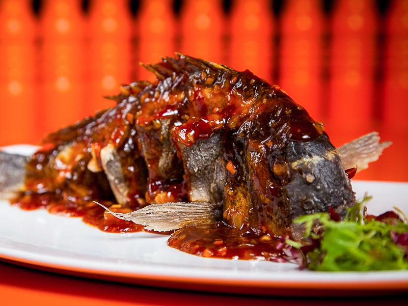 Хрустящая дорадо с тайскими специями