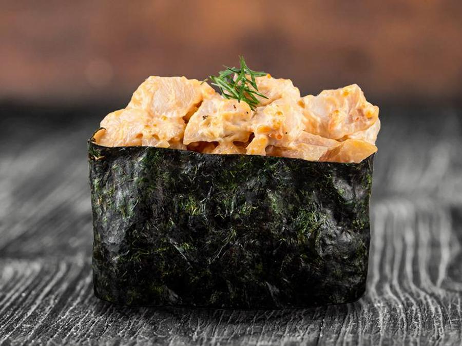 Острые суши Окунь