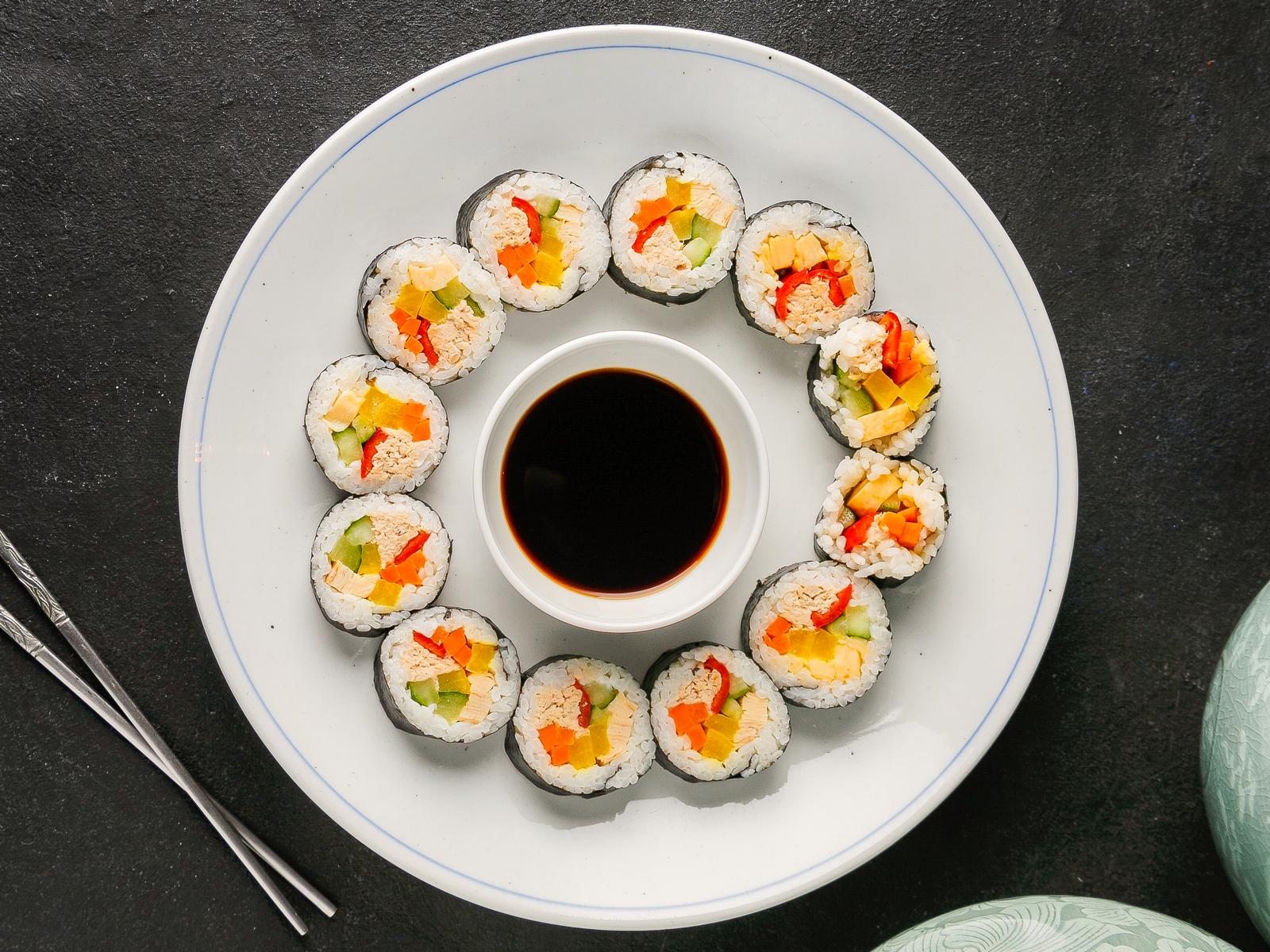 Кимпаб ролл с тунцом