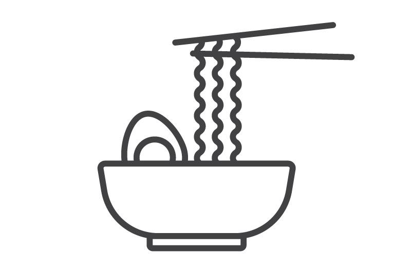Бататная лапша с тофу и шпинатом Ланч