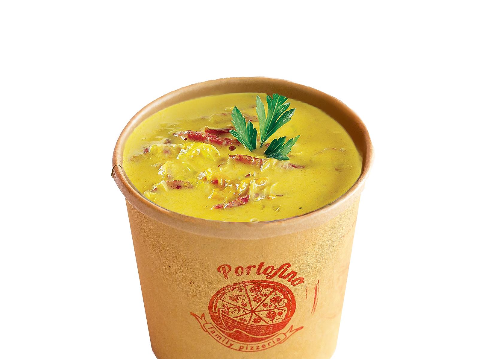 Сырный крем-суп с ветчиной