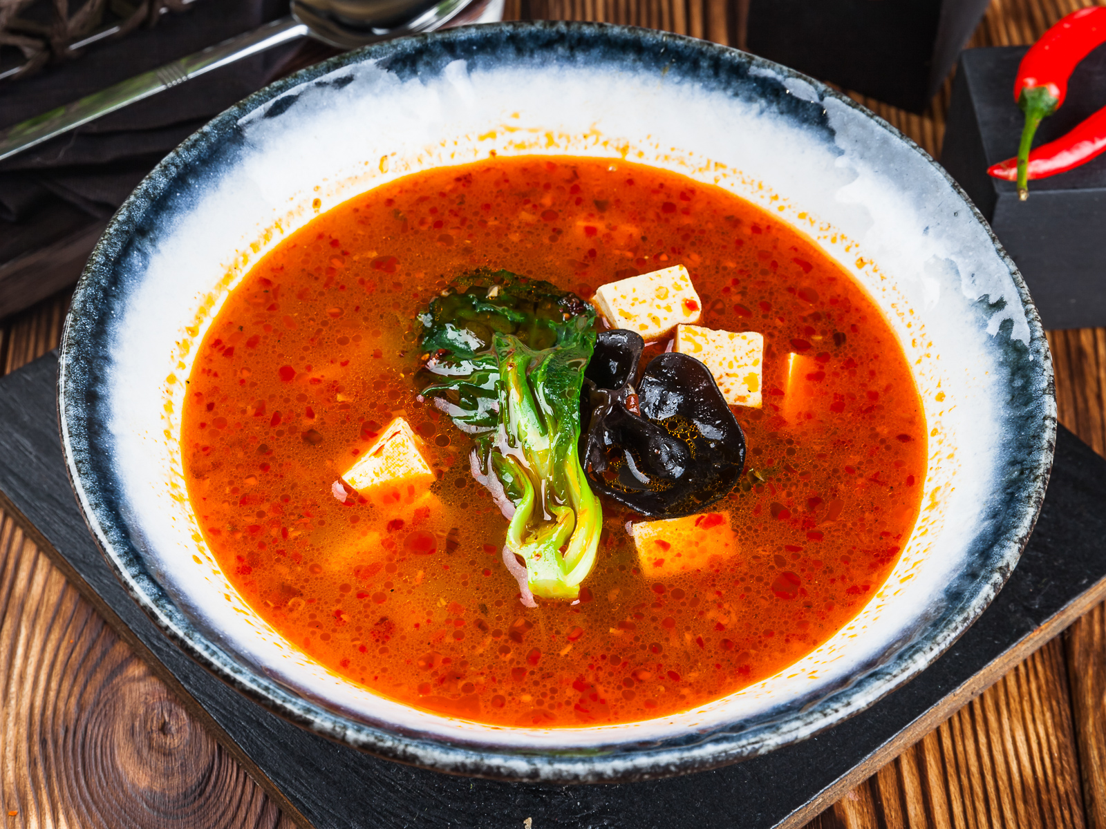 Суп с тофу