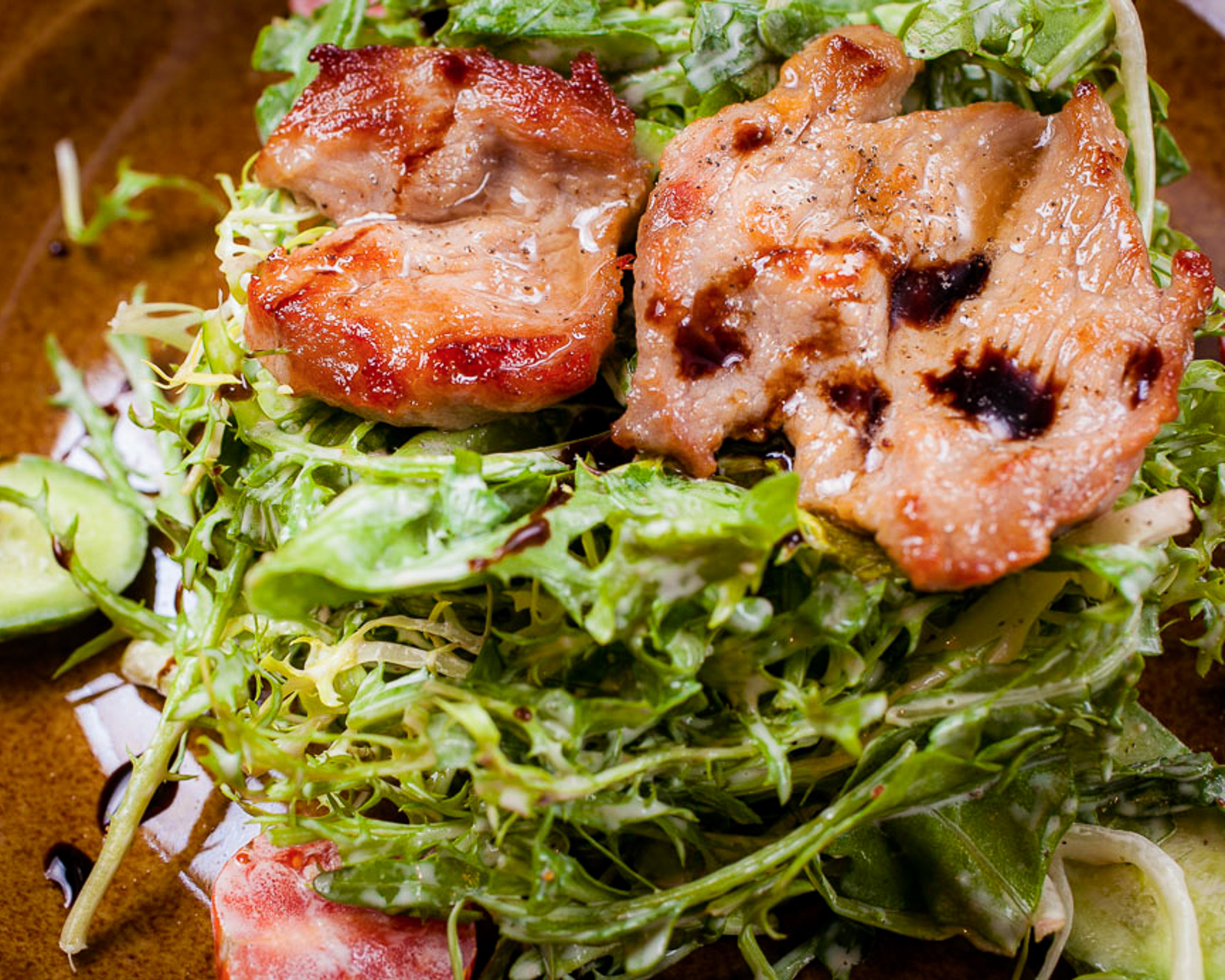 Теплый салат Бочола