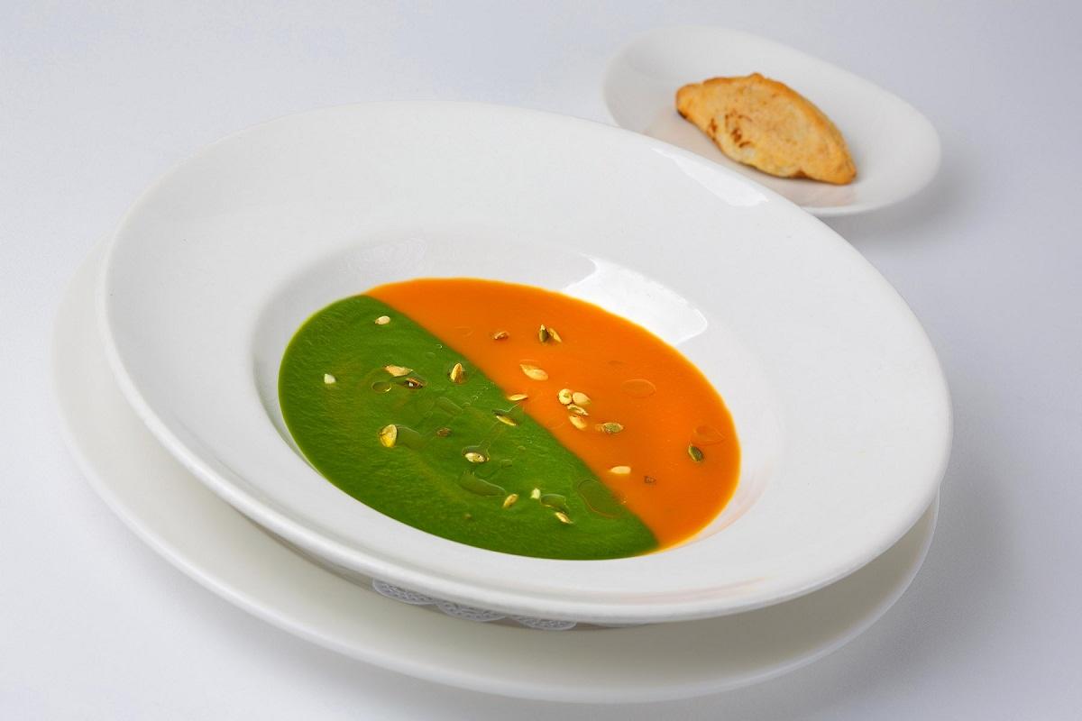 Суп-крем из тыквы и шпината