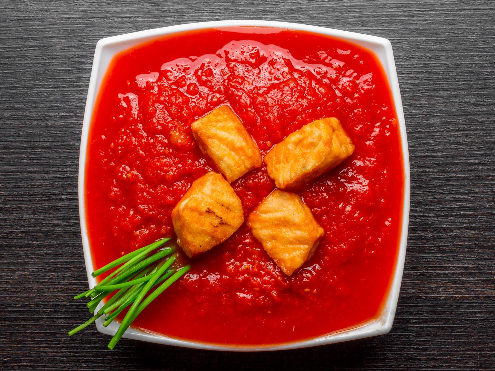 Суп Томатный с лососем