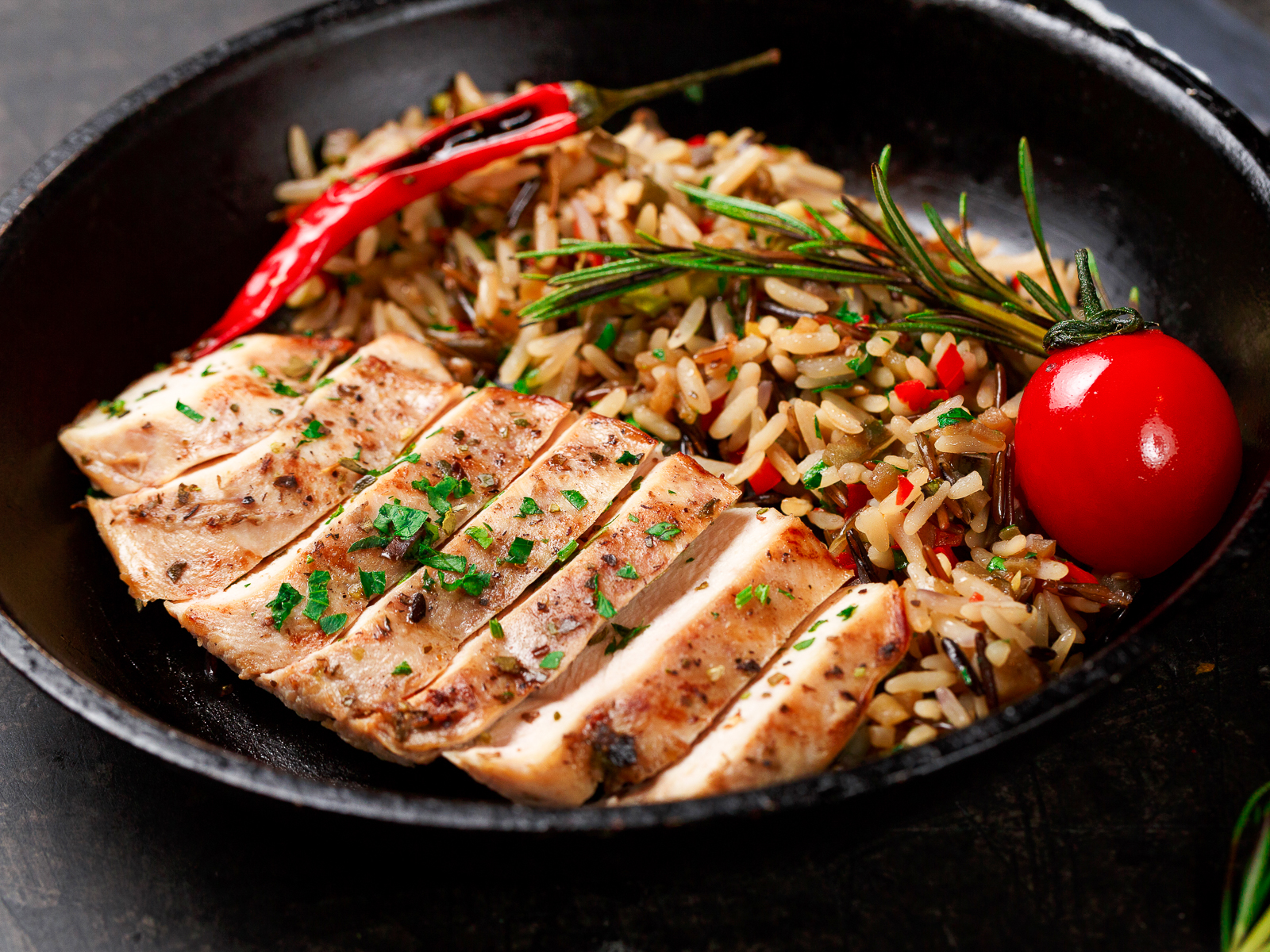 Филе цыпленка с диким рисом