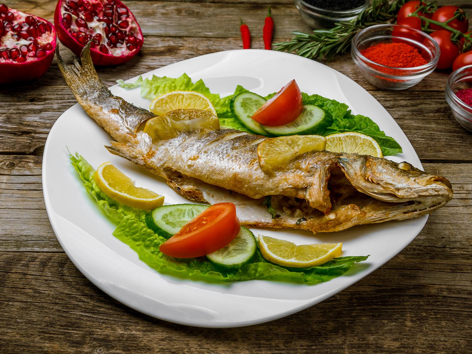 Рыба по-ливански на гриле