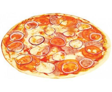 Пицца томаты и ветчина