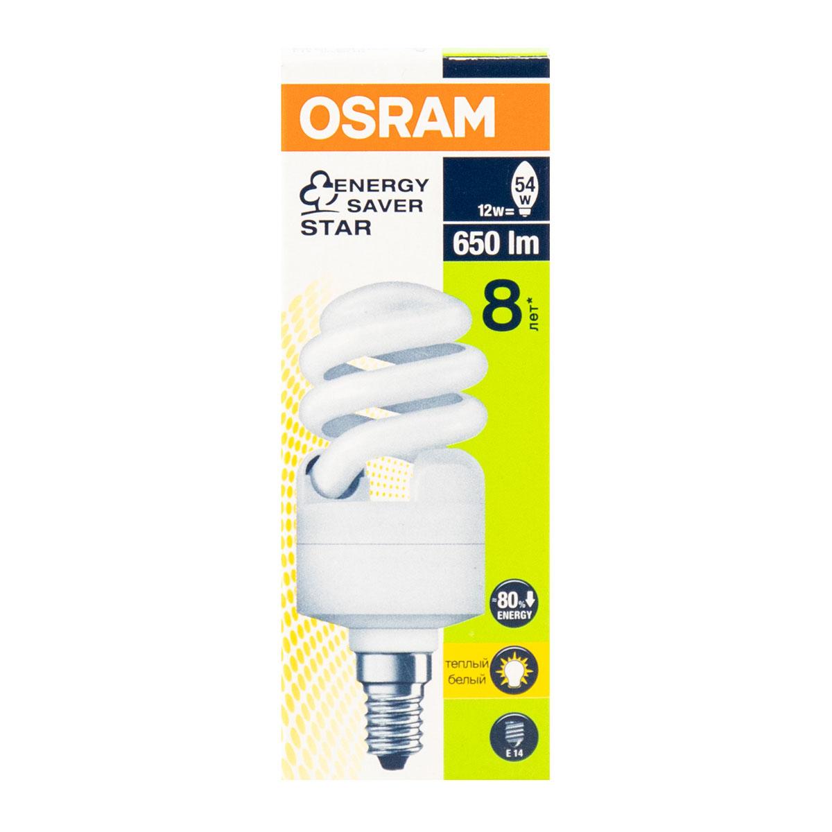Osram энергосбер., 12W, E14