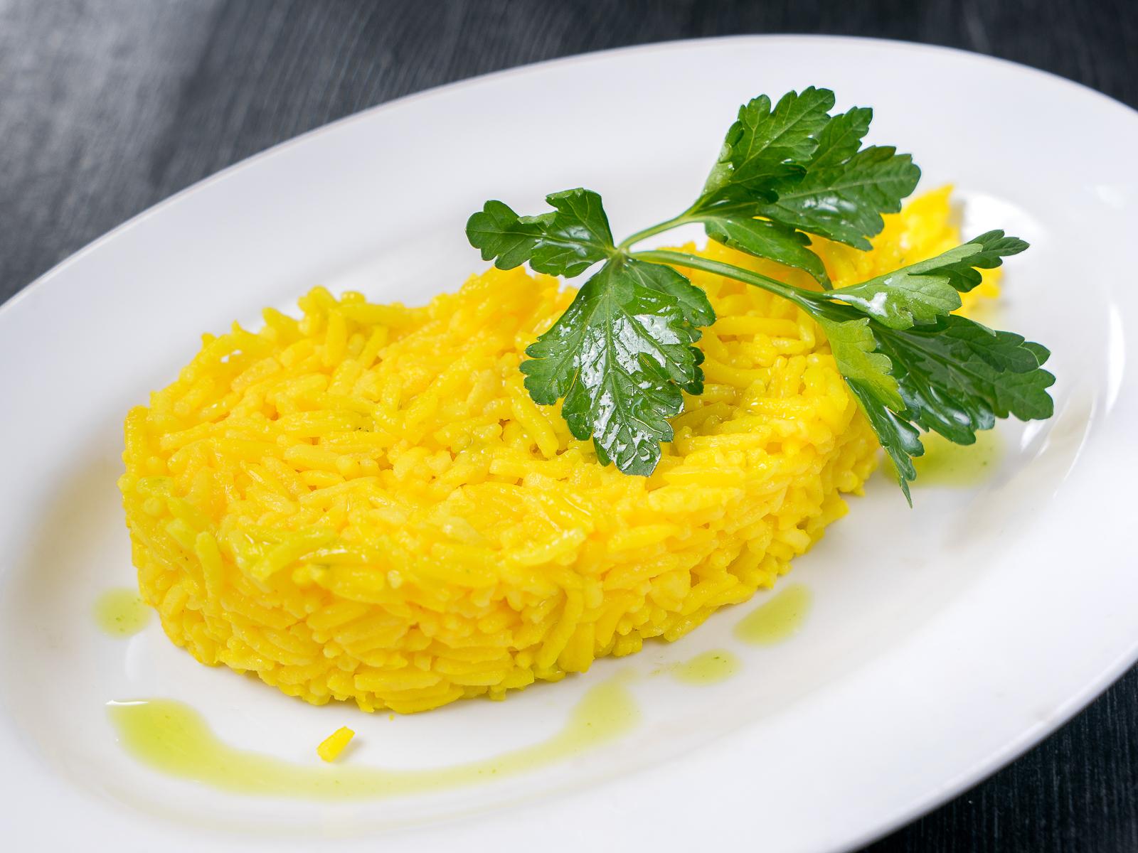 Рис отварной с куркумой