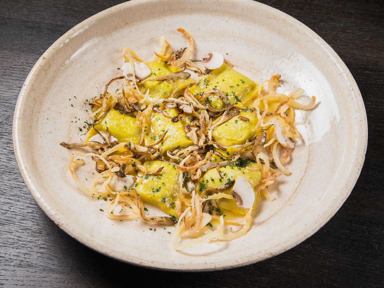 Равиолли с картофельным кремом