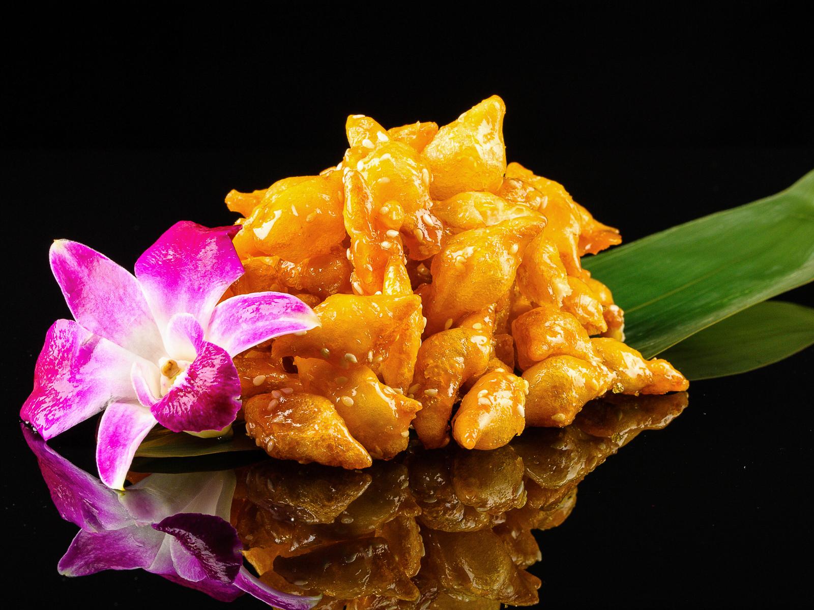 Китайское печенье в карамели