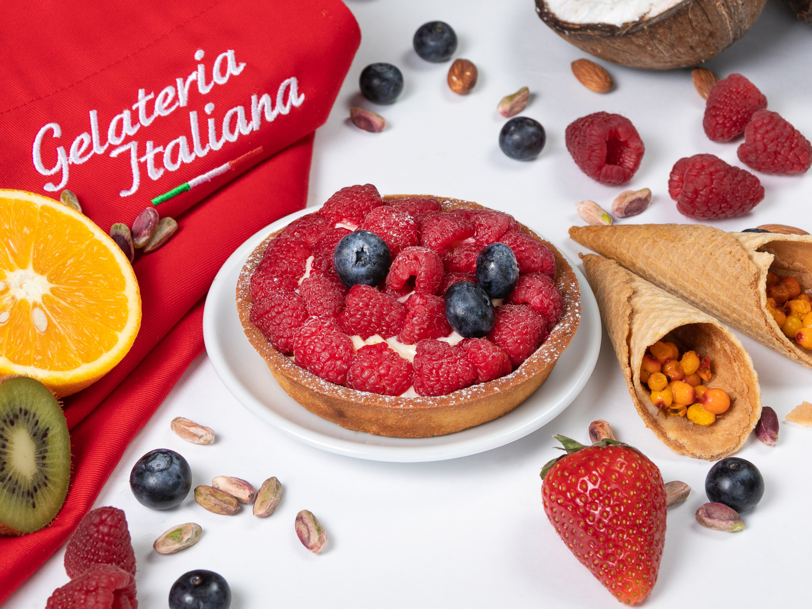 Пирожное Свежие ягоды