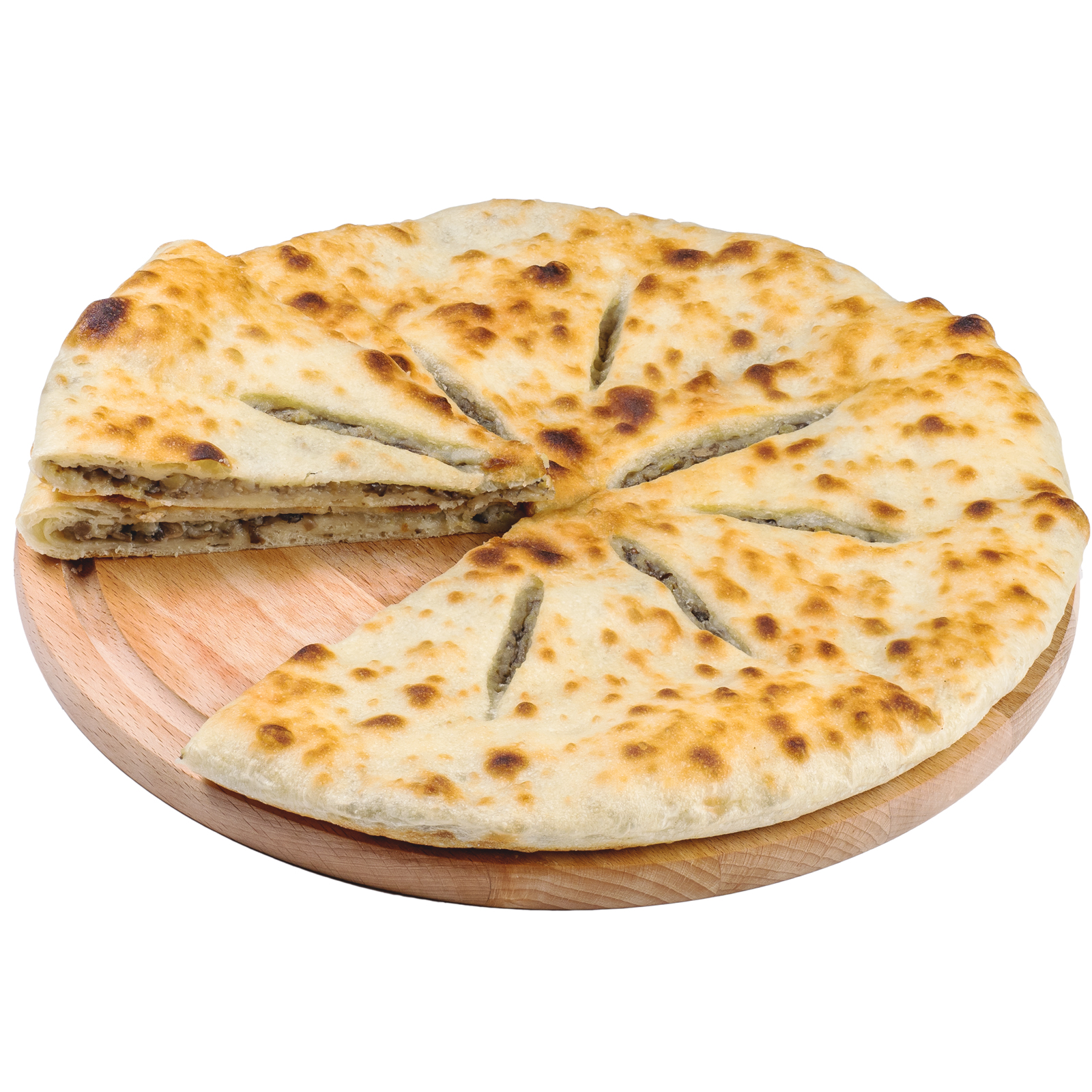 Пирог осетинский с картофелем и грибами (постный)