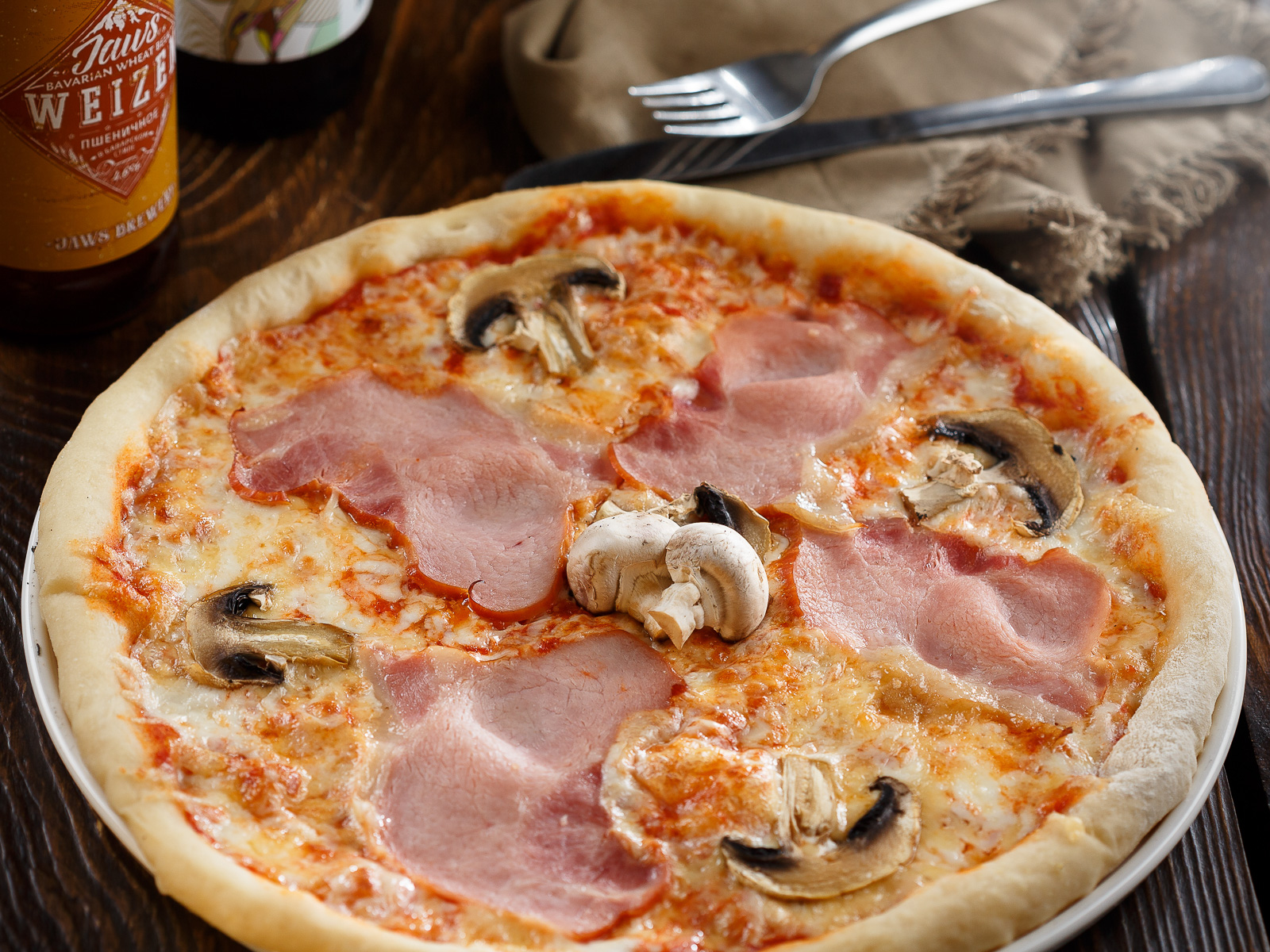 Пицца Ветчина и грибы
