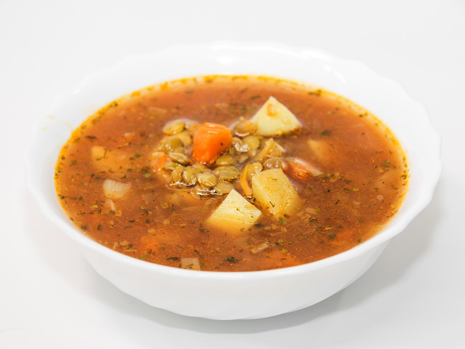 Суп Чечевичный постный