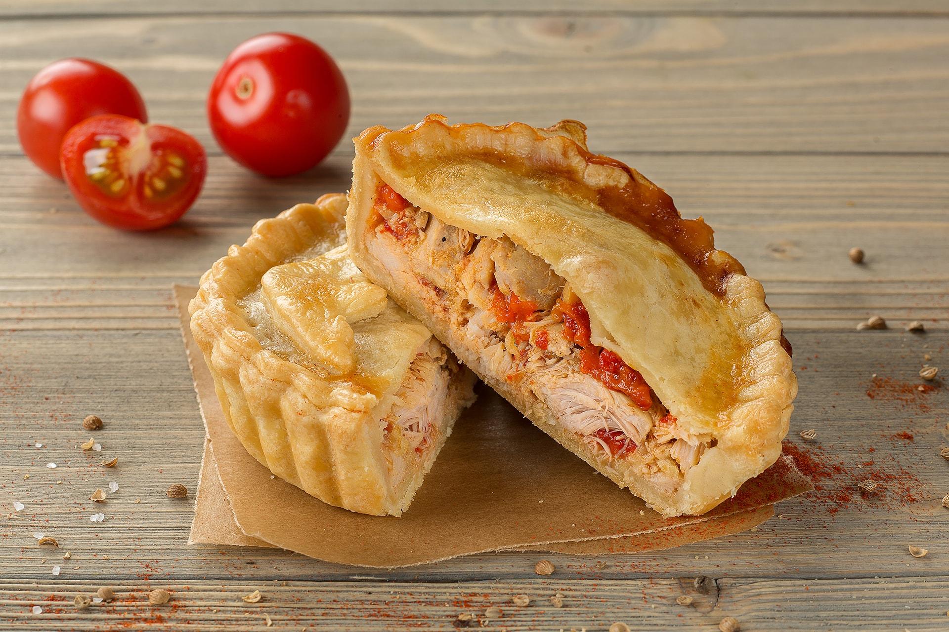 Пирог Курица с копченой паприкой