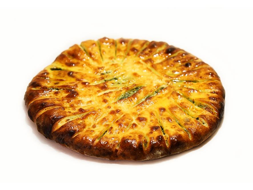 Осетинский пирог с ботвой свеклы и сыром