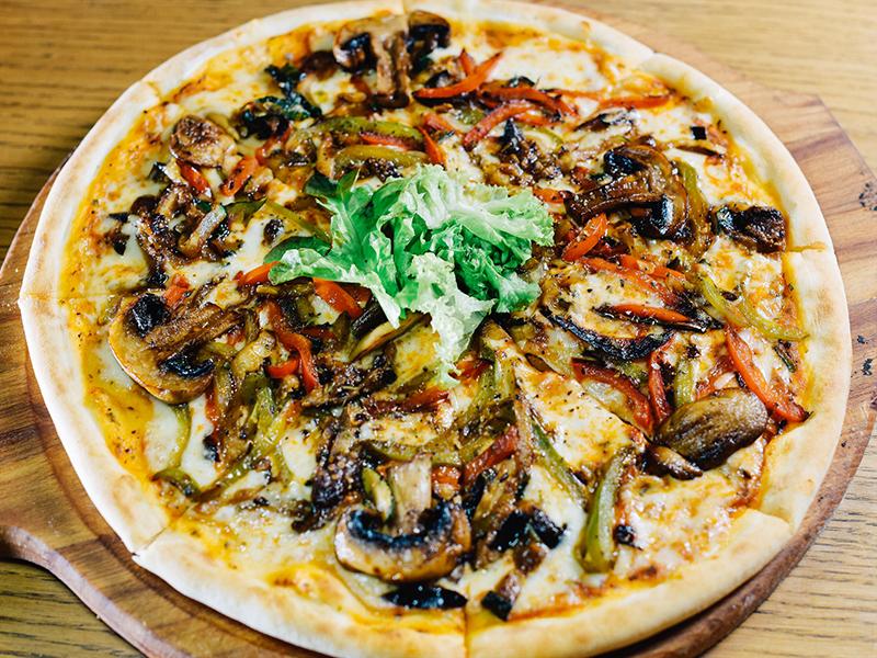 Пицца с овощами-гриль