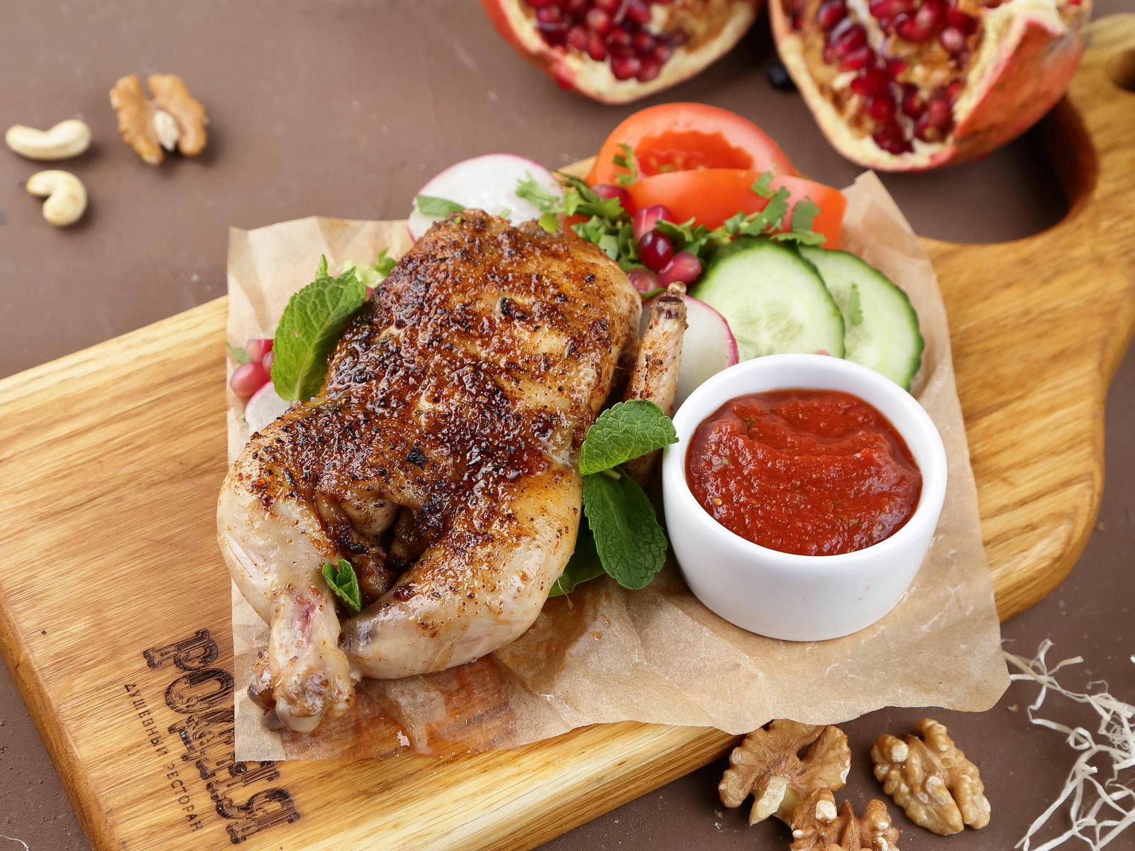 Цыпленок в грузинских специях