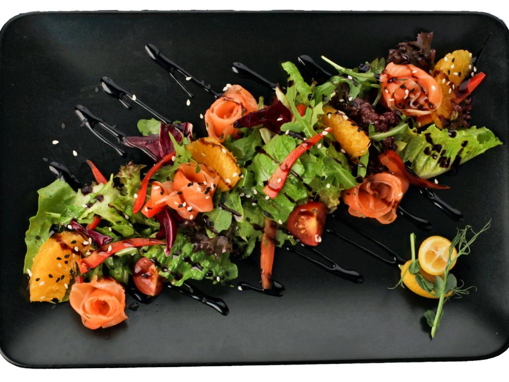 Салат с сёмгой и апельсином