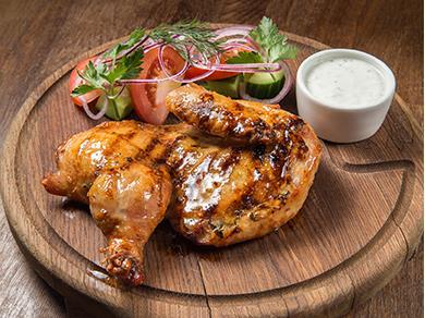 Цыпленок маринованный с медом и имбирем