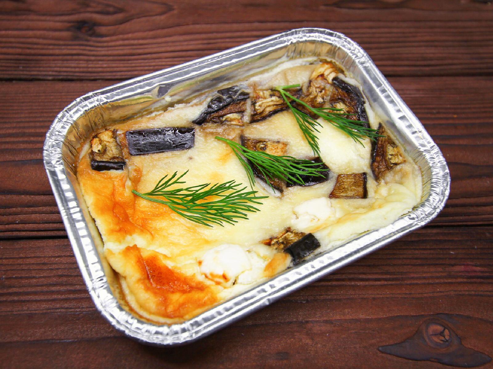 Омлет с сыром фета и баклажанами