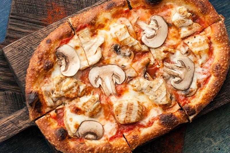 Пиццетта с куриным филе