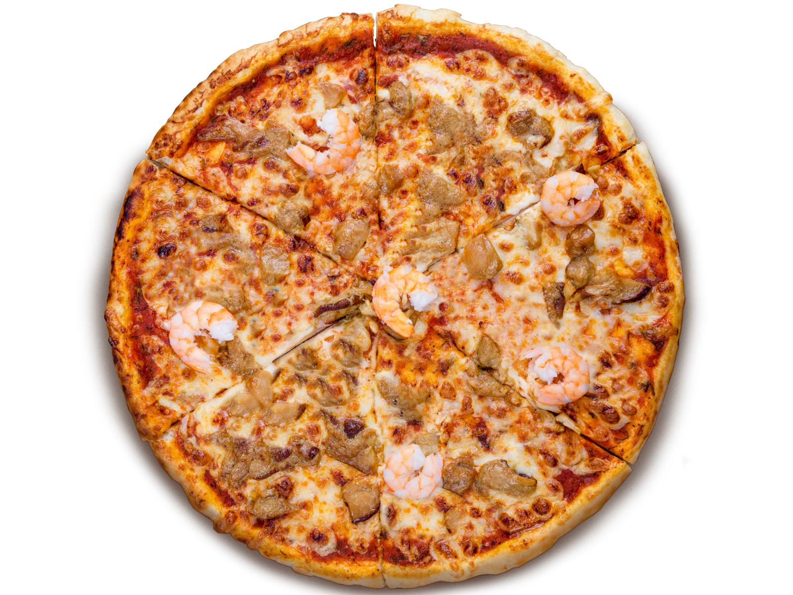 Пицца Маргарита с креветками