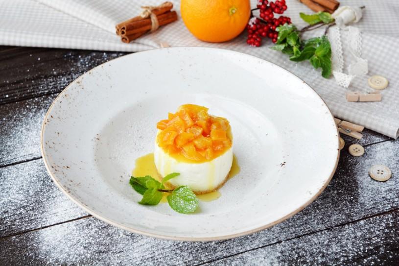 Чизкейк с апельсиновым конфитюром