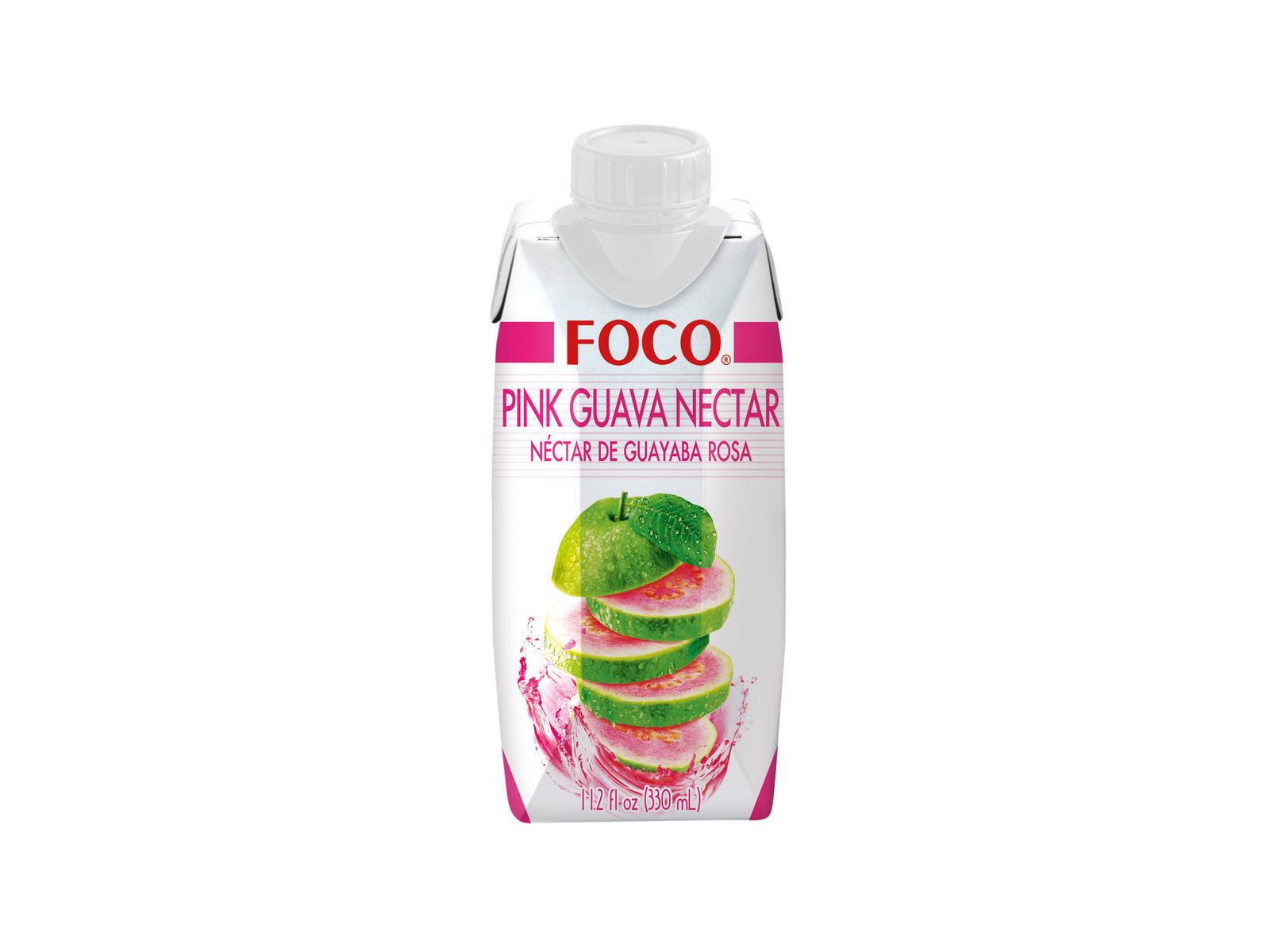 Натуральная кокосовая вода с нектаром розовой гуавы