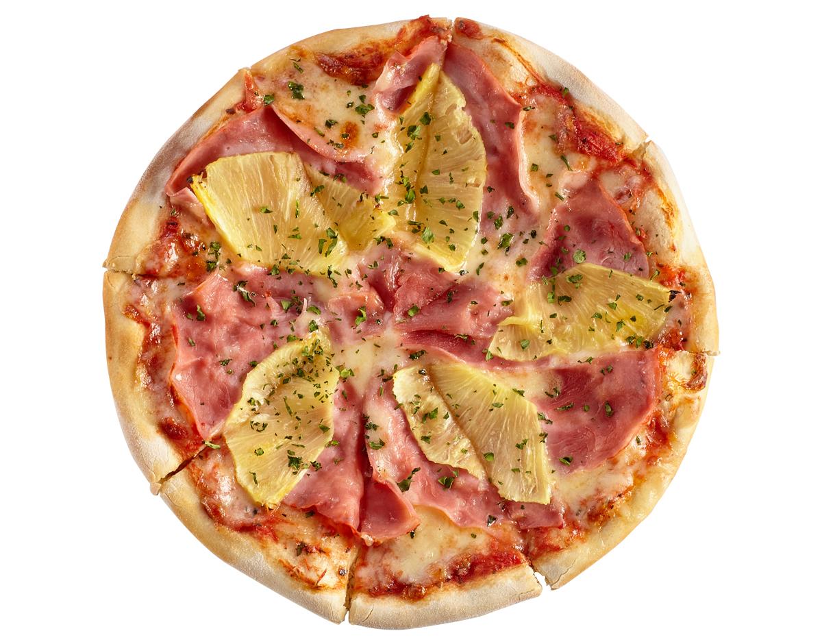 Мини- пицца с ветчиной и ананасами