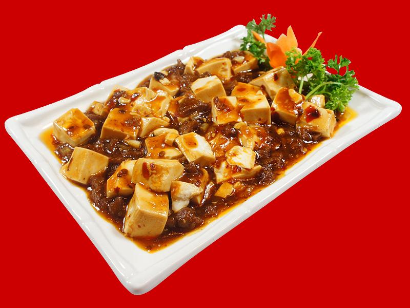 Китайский тофу в соевой острой пасте с говядиной