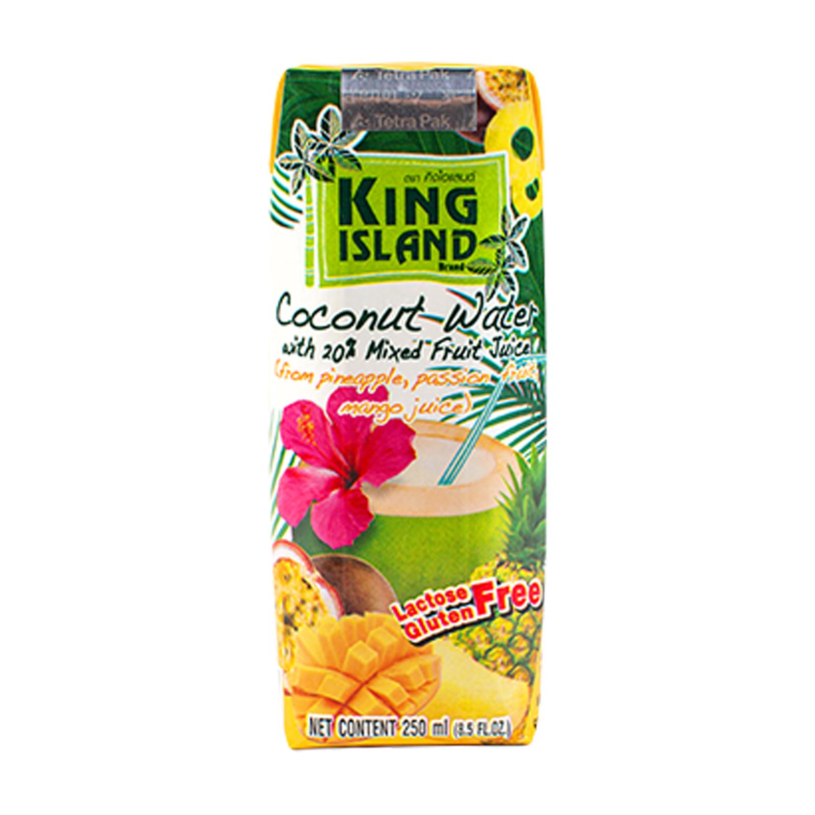 Кокосовая вода с ананасом, маракуйей и манго
