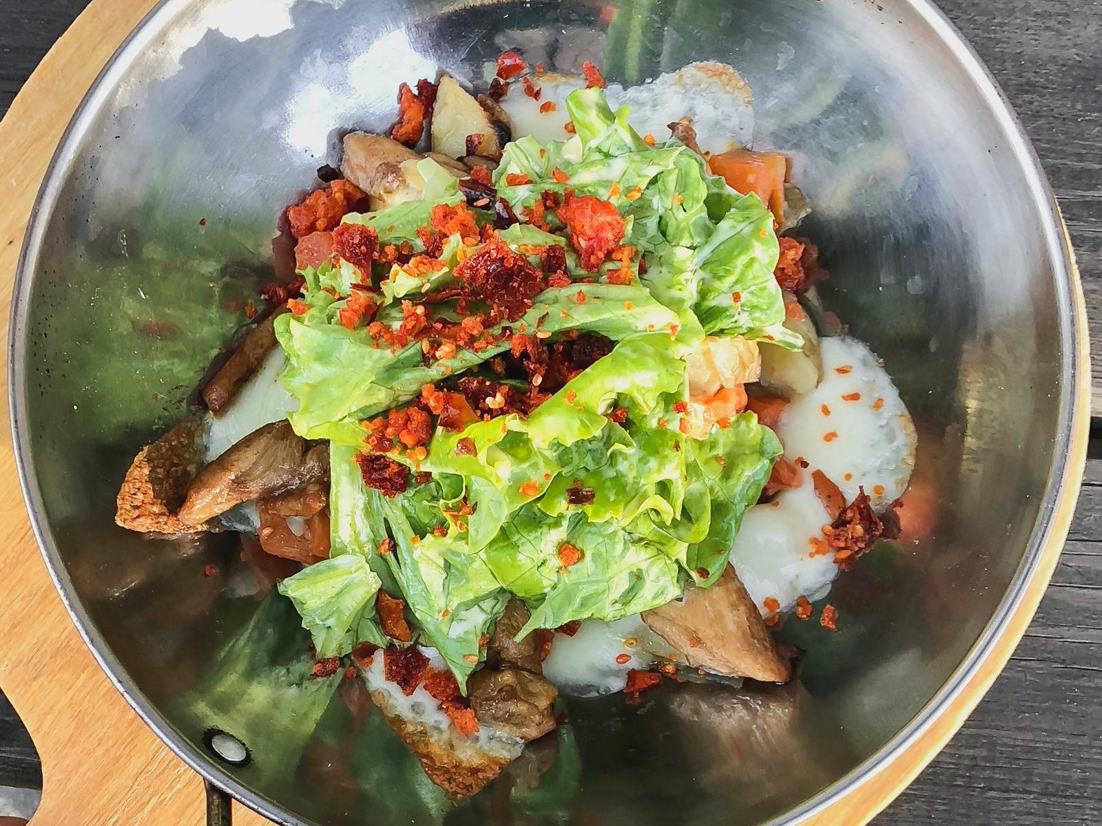 Капсалон с курицей и печёными овощами