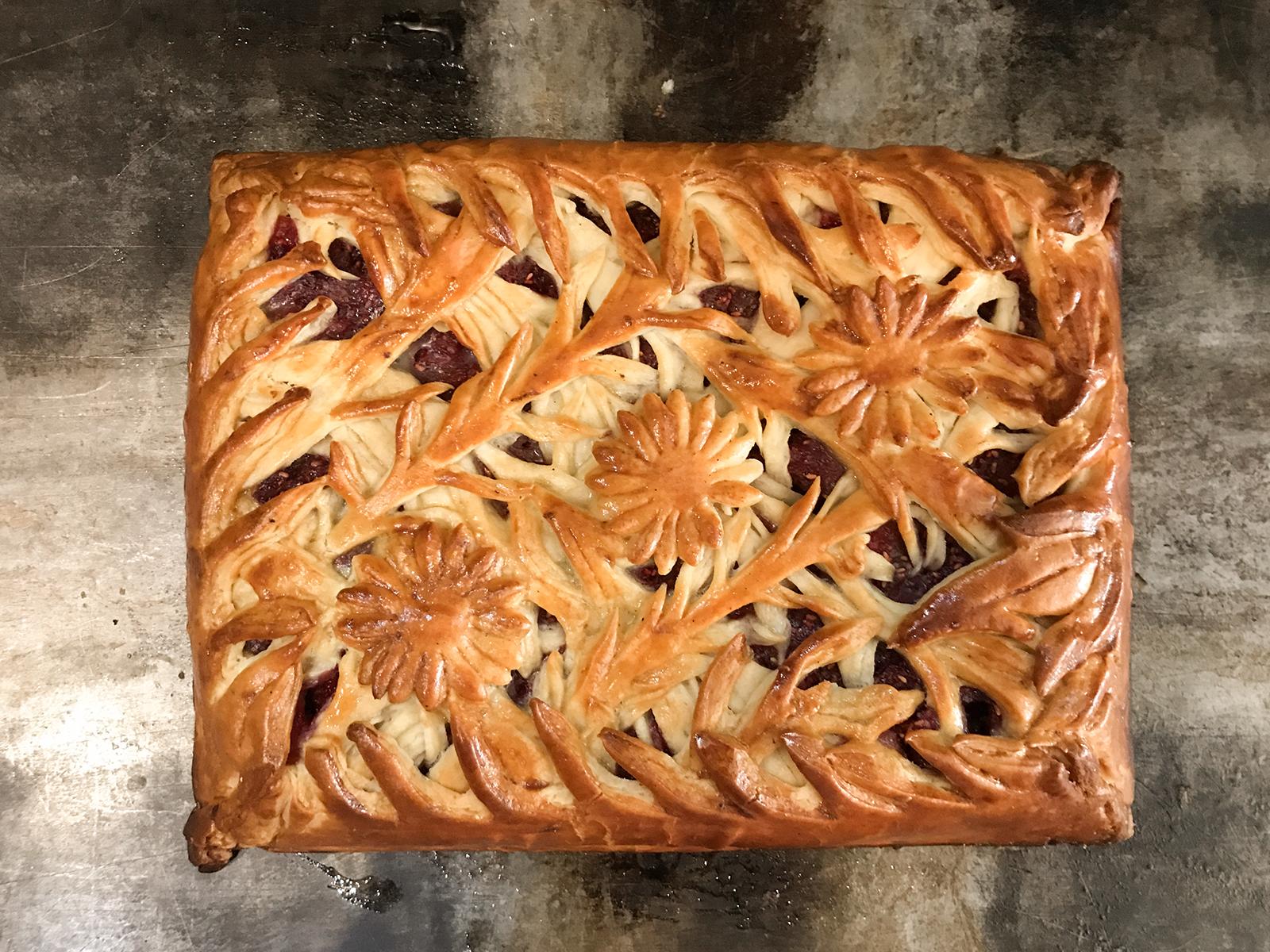 Пирог Зимняя малина