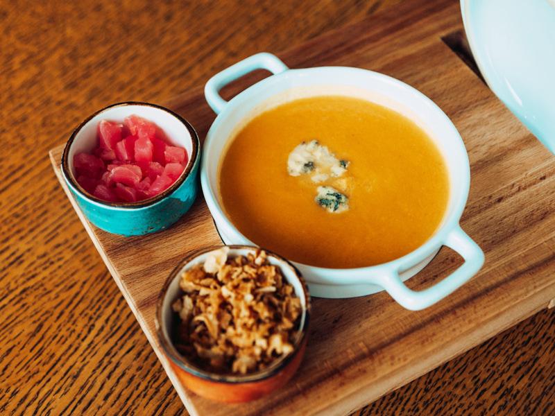 Суп сырный с тунцом